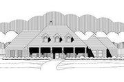 Traditional Style House Plan - 3 Beds 2 Baths 2883 Sq/Ft Plan #411-743 Exterior - Front Elevation