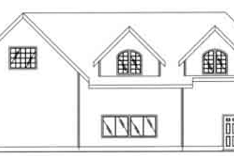 Traditional Exterior - Rear Elevation Plan #117-256
