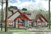 Craftsman Style House Plan - 4 Beds 3.5 Baths 3206 Sq/Ft Plan #17-2372 Exterior - Front Elevation