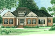 Ranch Style House Plan - 3 Beds 2.5 Baths 2458 Sq/Ft Plan #1054-25 Exterior - Front Elevation