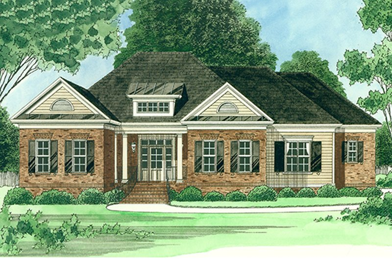 Home Plan - Ranch Exterior - Front Elevation Plan #1054-25