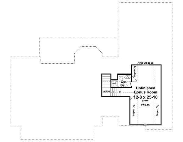Traditional Floor Plan - Upper Floor Plan #21-329