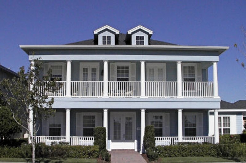 Southern Exterior - Front Elevation Plan #64-118 - Houseplans.com