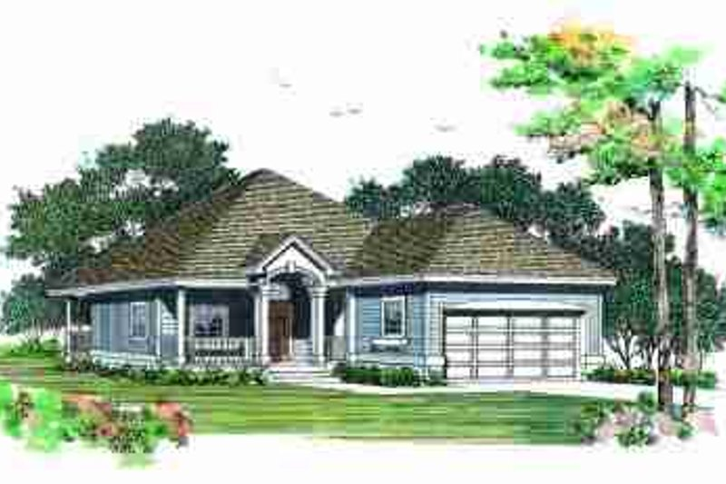 Traditional Exterior - Front Elevation Plan #72-323 - Houseplans.com