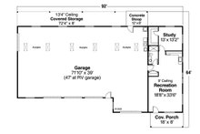 Traditional Floor Plan - Main Floor Plan Plan #124-659