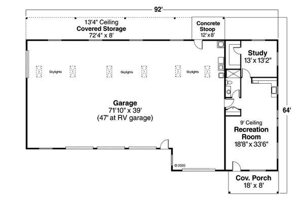 Traditional Floor Plan - Main Floor Plan #124-659