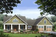 Craftsman Style House Plan - 3 Beds 2 Baths 1816 Sq/Ft Plan #21-366 Exterior - Front Elevation