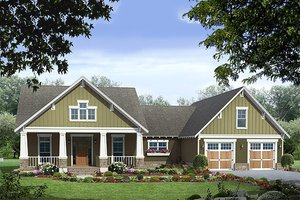 Craftsman style home, bungalow design, elevation
