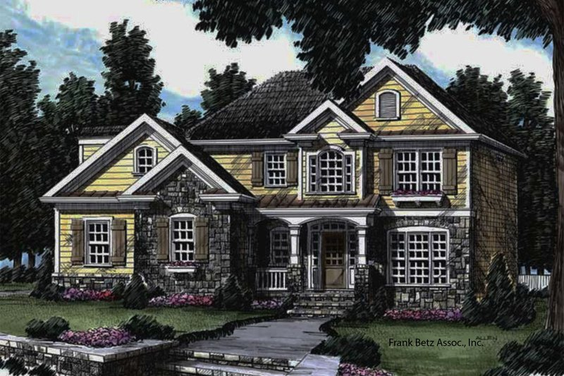 Country Exterior - Front Elevation Plan #927-625