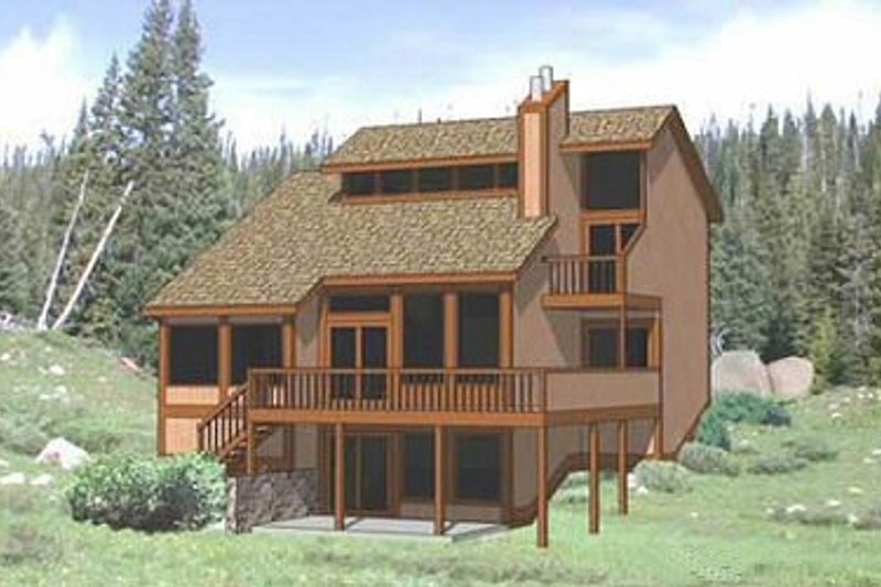 Modern Style House Plan - 3 Beds 2 Baths 2182 Sq/Ft Plan #116-117 Exterior - Front Elevation