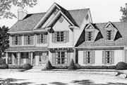 Traditional Style House Plan - 3 Beds 2.5 Baths 2059 Sq/Ft Plan #112-125 Exterior - Front Elevation