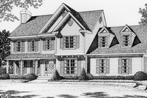 Traditional Exterior - Front Elevation Plan #112-125