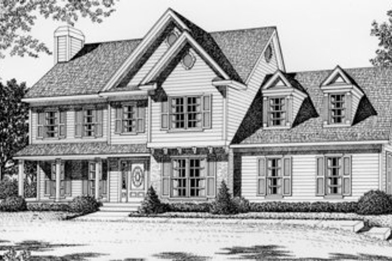 Traditional Style House Plan - 3 Beds 2.5 Baths 2059 Sq/Ft Plan #112-125