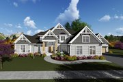 Traditional Style House Plan - 4 Beds 3.5 Baths 5014 Sq/Ft Plan #70-1297 Exterior - Front Elevation