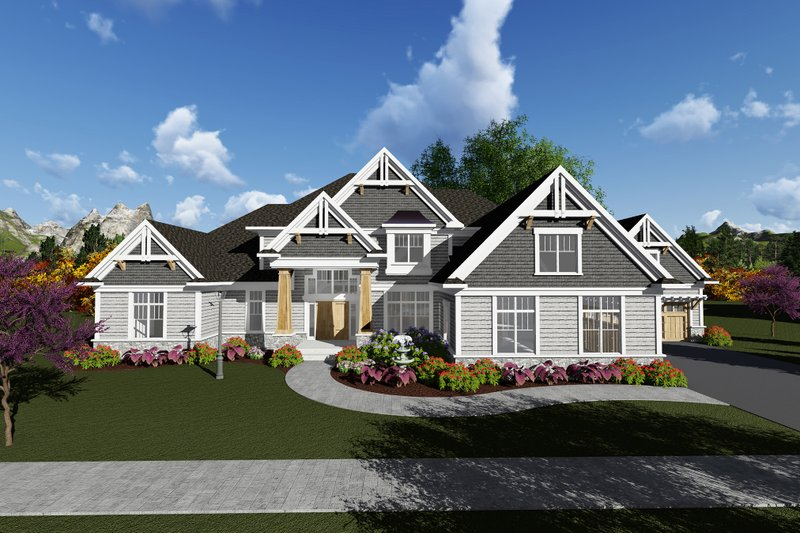 Dream House Plan - Traditional Exterior - Front Elevation Plan #70-1297