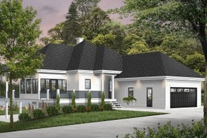 Cottage Exterior - Front Elevation Plan #23-2680
