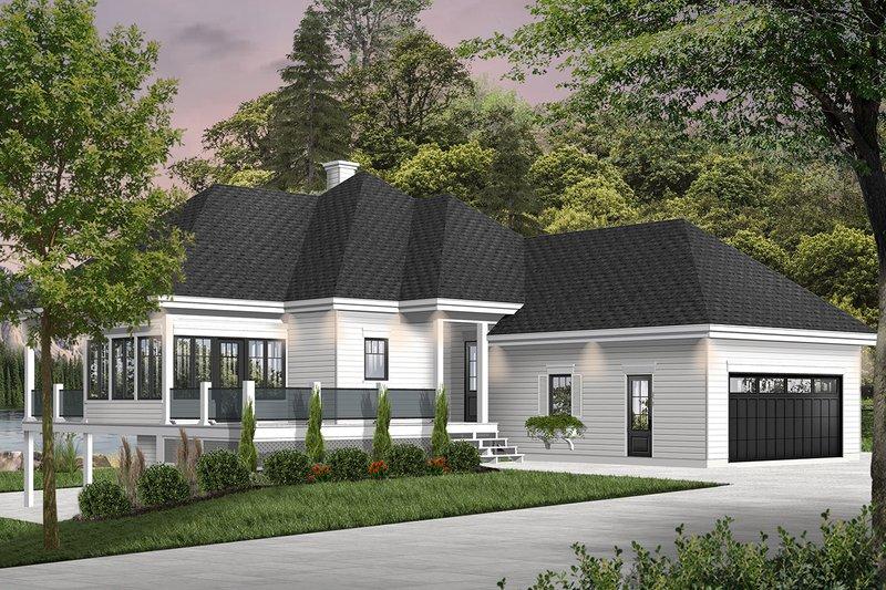 House Plan Design - Cottage Exterior - Front Elevation Plan #23-2680