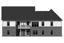 House Plan Design - Craftsman Exterior - Rear Elevation Plan #21-341