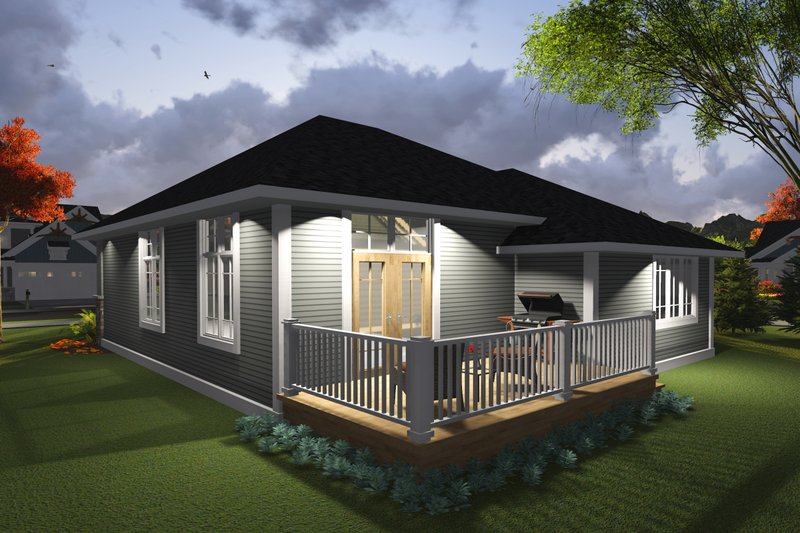 Ranch Exterior - Rear Elevation Plan #70-1235 - Houseplans.com