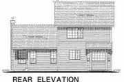 Traditional Style House Plan - 3 Beds 2.5 Baths 1447 Sq/Ft Plan #18-271 Exterior - Rear Elevation