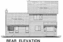 House Design - Traditional Exterior - Rear Elevation Plan #18-271