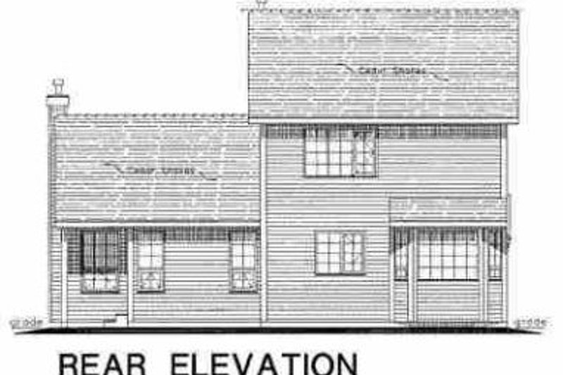 Traditional Exterior - Rear Elevation Plan #18-271 - Houseplans.com