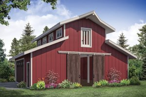 Country Exterior - Front Elevation Plan #124-1176