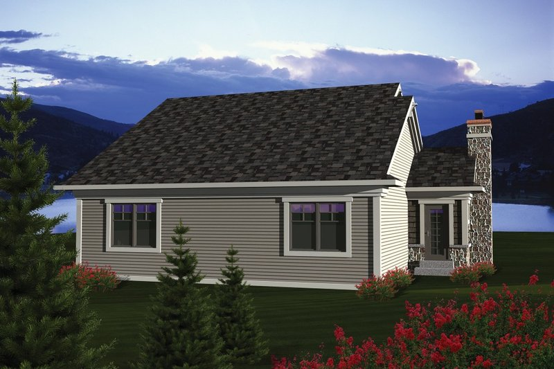 Ranch Exterior - Rear Elevation Plan #70-1076 - Houseplans.com