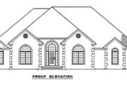 European Style House Plan - 4 Beds 2.5 Baths 2631 Sq/Ft Plan #17-1180 Exterior - Other Elevation