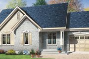 Cottage Style House Plan - 2 Beds 1 Baths 1010 Sq/Ft Plan #23-1026 Exterior - Front Elevation