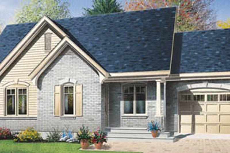 Cottage Exterior - Front Elevation Plan #23-1026