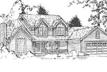 Dream House Plan - Country Exterior - Other Elevation Plan #3-177