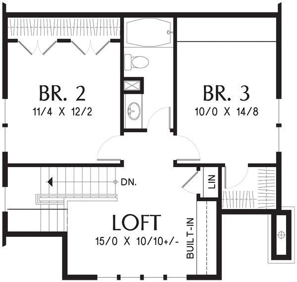 Dream House Plan - Bungalow Floor Plan - Upper Floor Plan #48-646