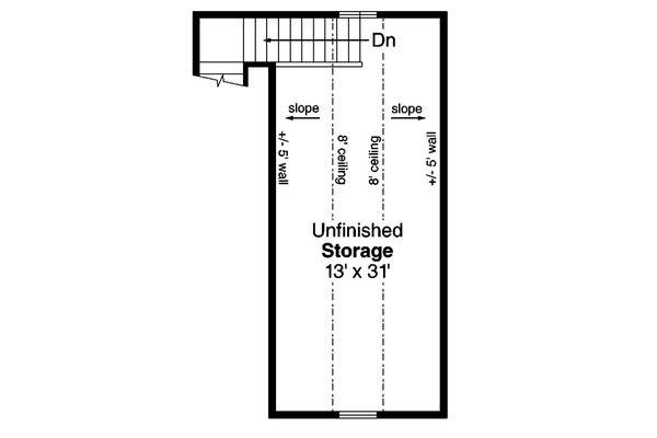 Ranch Floor Plan - Upper Floor Plan Plan #124-1132