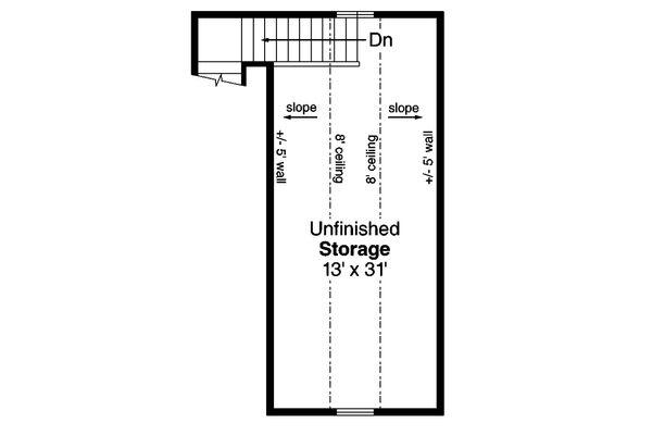 Ranch Floor Plan - Upper Floor Plan Plan #124-1132