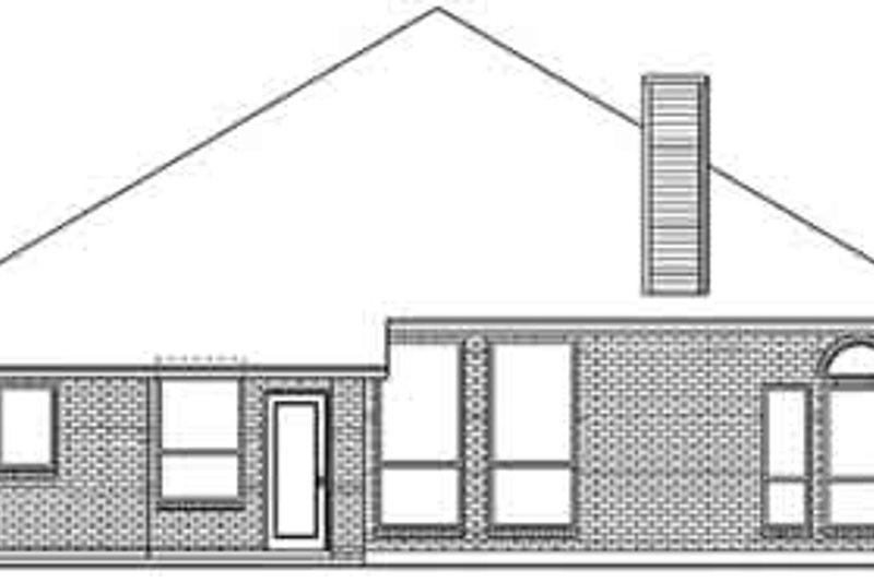 European Exterior - Rear Elevation Plan #84-232 - Houseplans.com