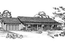 Ranch Exterior - Front Elevation Plan #72-225