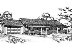 Home Plan - Ranch Exterior - Front Elevation Plan #72-225