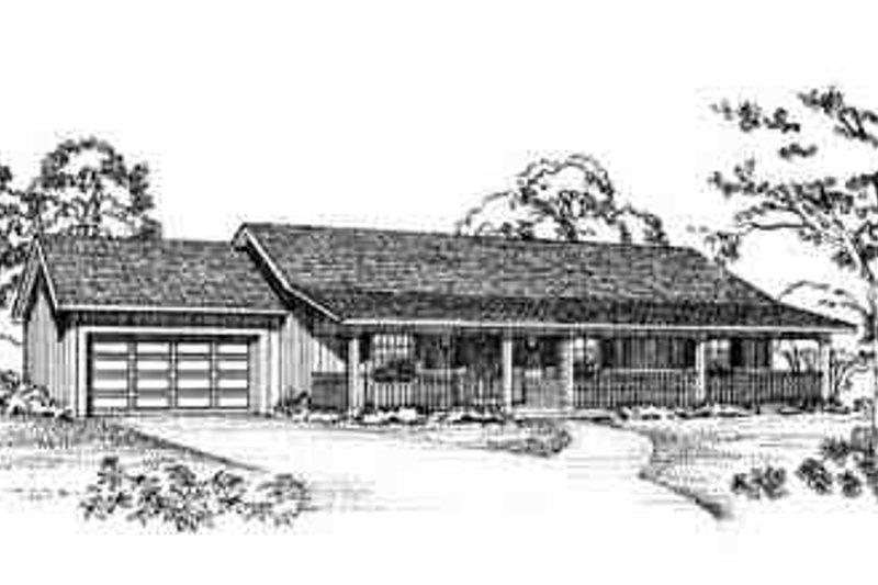 House Blueprint - Ranch Exterior - Front Elevation Plan #72-225