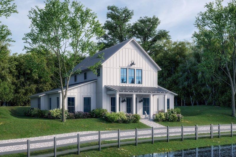 Dream House Plan - Farmhouse Exterior - Front Elevation Plan #430-259