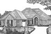 European Style House Plan - 3 Beds 2 Baths 1912 Sq/Ft Plan #310-396 Exterior - Front Elevation