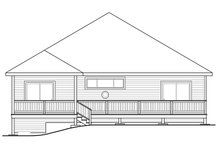 Home Plan - Traditional Exterior - Rear Elevation Plan #124-1007