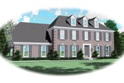 Colonial Style House Plan - 4 Beds 2.5 Baths 2835 Sq/Ft Plan #81-13694 Exterior - Front Elevation