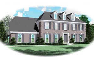 Colonial Exterior - Front Elevation Plan #81-13694