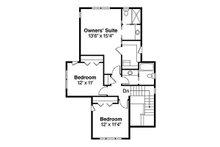 Craftsman Floor Plan - Upper Floor Plan Plan #124-844