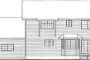 Country Style House Plan - 3 Beds 3 Baths 2170 Sq/Ft Plan #126-132 Exterior - Rear Elevation