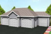 Traditional Style House Plan - 0 Beds 0 Baths 916 Sq/Ft Plan #75-209 Exterior - Front Elevation