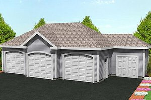 Traditional Exterior - Front Elevation Plan #75-209