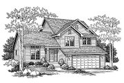 Traditional Style House Plan - 3 Beds 2.5 Baths 1663 Sq/Ft Plan #70-271 Exterior - Front Elevation