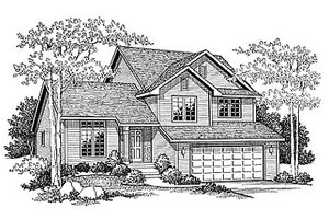 Traditional Exterior - Front Elevation Plan #70-271